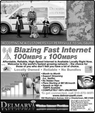 Blazing Fast Internet