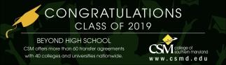 Congratulations Class of 2019
