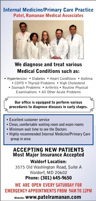 Internal Medicine/Primary Care Practice