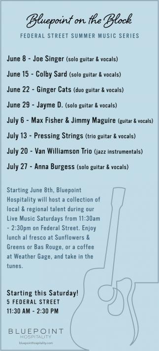 Federal Street Summer Music Series
