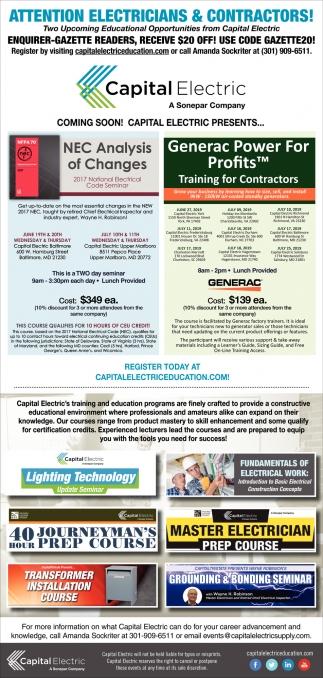 Attention Electricians & Contractors