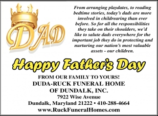 Happy Father S Day Duda Ruck Funeral Home Of Dundalk Inc Baltimore Md