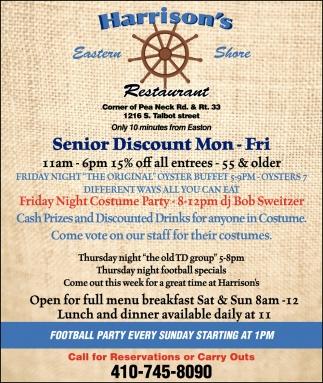 Senior Discount Mon - Fri