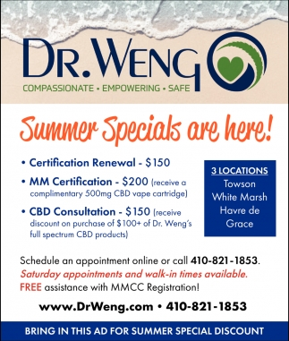 Concierge Primary Care, Dr  Weng, Towson, MD