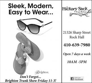 Seek, Modern, Easy to Wear...