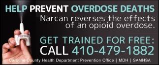 Help Prevent Overdose Deaths