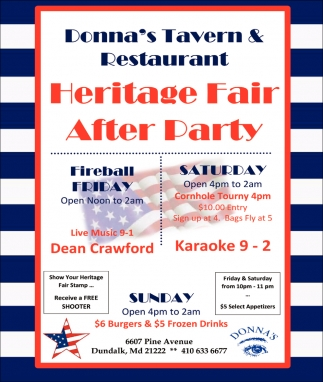 Heritage Fair After Party