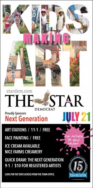 Kids Making Art, Star Democrat, Cambridge, MD