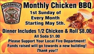 Monthly Chicken BBQ