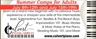 Summer Camps for Adults