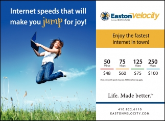 Internet Speeds that Will Make You Jump for Joy