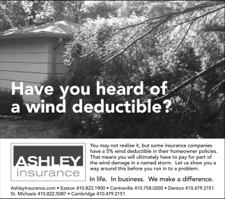 Have You Heard Of A Wind Deductible?