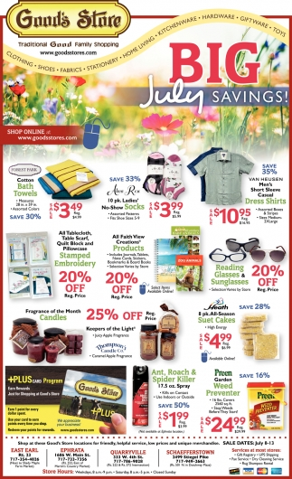 Big July Savings