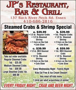 Steamed Crabs & Shrimp Special
