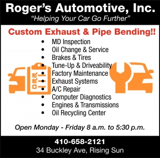 Custom Exhaust & Pipe Bending!!, Roger's Automotive Inc , Colora, MD