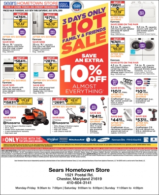3 Days Only Hot Family & Friends Sale