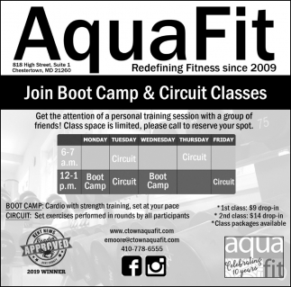 Join Boot Camp & Circuit Classes