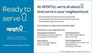At APGFCU, We're All About U