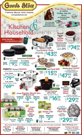 Kitchen & Household Supplies
