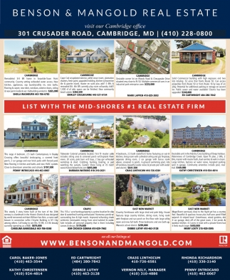 List with the Mid-Shores #1 Real Estate Firm