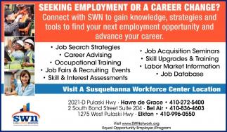 Seeking Empoyment or a Career Change?