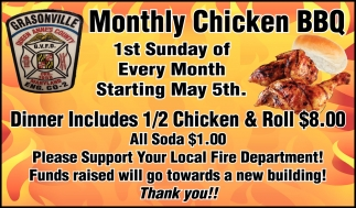 Monthly Chicken BBQ