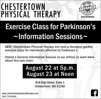 Exercise Class for Parkinson