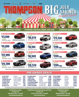 Thompson Big July Savings