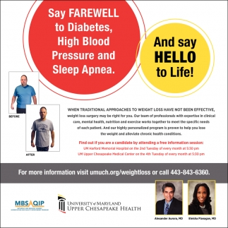 Say Farewell to Diabetes, High Blood Pressure and Sleep Apnea