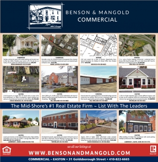 Commercial, Benson & Mangold Real Estate - Commercial, Cambridge, MD