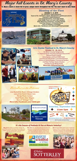 Major Fall Events in St. Mary's County