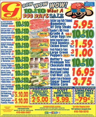 Dog Days Sale