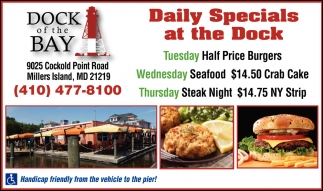 Daily Specials at the Dock