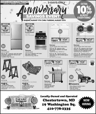 Anniversary Savings Event
