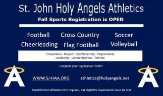 Fall Sports Registration is Open