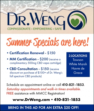 Summer Specials Are Here
