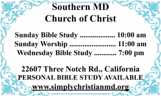 Personal Bible Study Available