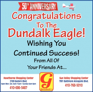 Congratulations to The Dundalk Eagle