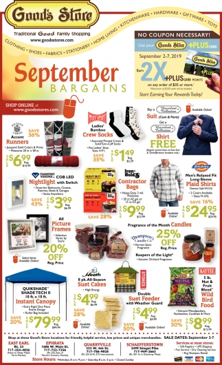 September Bargains