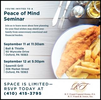 Peace of Mind Seminar