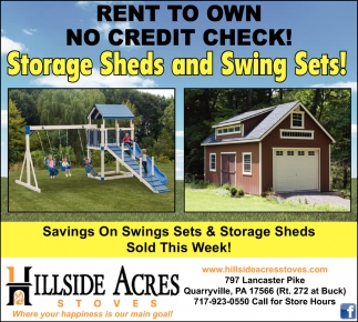 Rent to Own No Credit Check, Hillside Acres Stoves