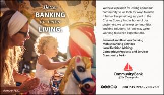 Better Banking for Better Living.