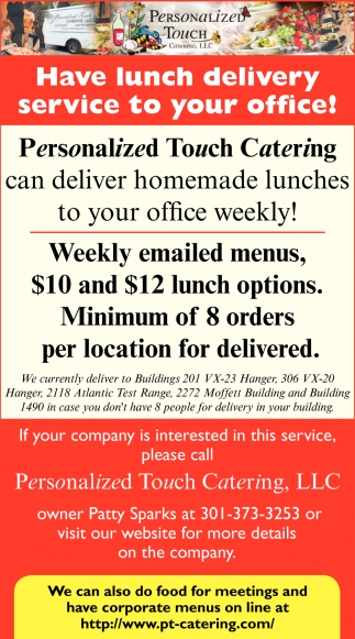 Have Lunch Delivery Service to Your Office, Personalized