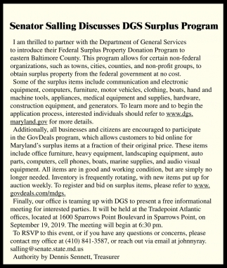 DGS Surplus Program