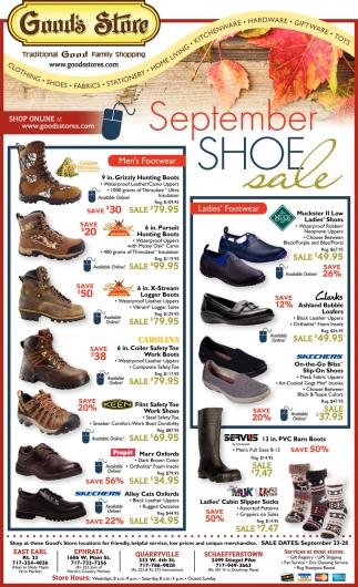 September Shoe Sale