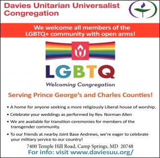 We Welcome All Members of the LGTBQ+ Community