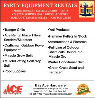 Party Equipment Rentals