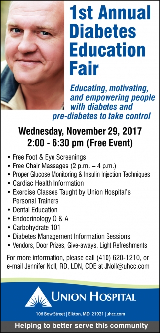 1St Annual Diabetes Education Fair