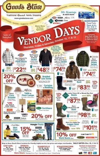Vendors Days