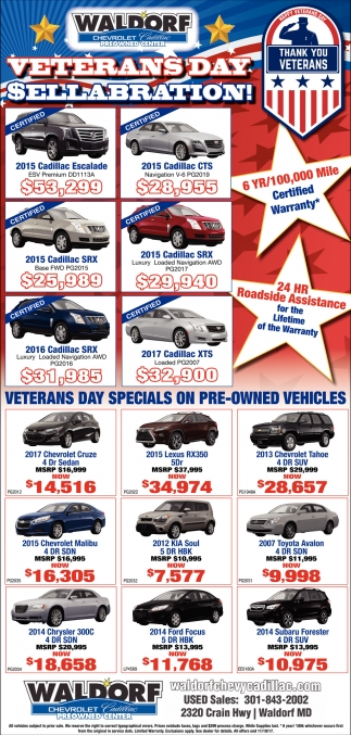 Veterans Day Celetion!, Waldorf Chevrolet Cadillac